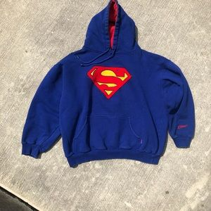 Superman embroidered Blue hoodie